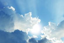 Close Up Beautiful Cloud And Blue Sky