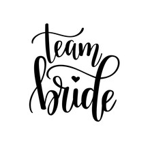 Team Bride Vector Hen Party, Bachelorette Wedding Design
