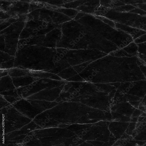 Photo sur Toile Les Textures Black marble texture pattern. Closeup stone surface natural abstract background.