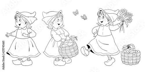 Little Red Riding Hood Fairy Tale Coloring Book Coloring Page