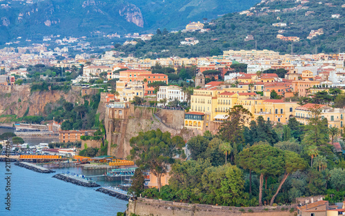 Fotobehang Europese Plekken Rocky coastline of Sorrento - popular tourist destination in Italy.
