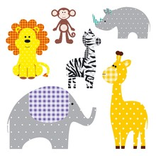 Vector Illustration Of A Cute Textile Animals