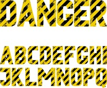 Font With Black And Yellow Gru...