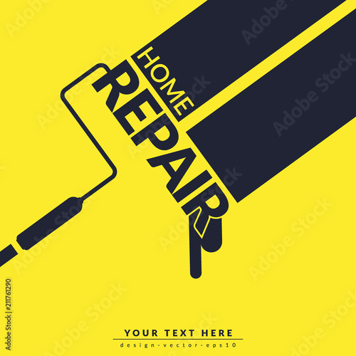 Creative Home Repair And Painting Concept Logo Design