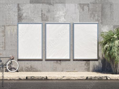 Fotografía Outdoor Poster frame Mockup. 3d illustration