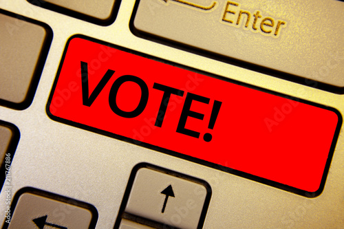 Valokuva  Text sign showing Vote Motivational Call