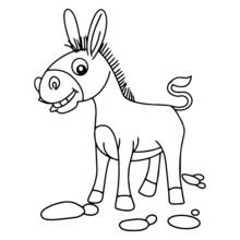 Donkey Cartoon Illustration Is...
