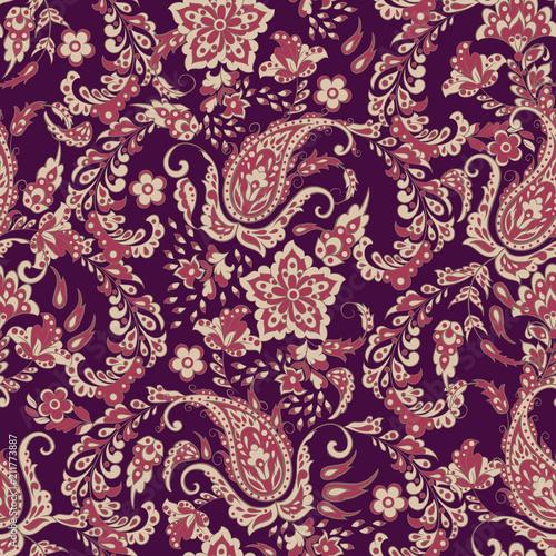 Obraz na plátně paisley seamless Vector pattern. batik style background