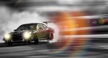 Car Drifting, Sport Car Wheel ...
