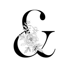 Decorative Floral Ampersand On...
