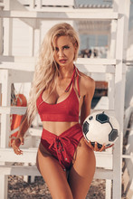 Sexy Football Cheerleader Girl...