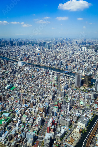 Foto op Plexiglas Tokyo Tokyo city skyline aerial view, Japan