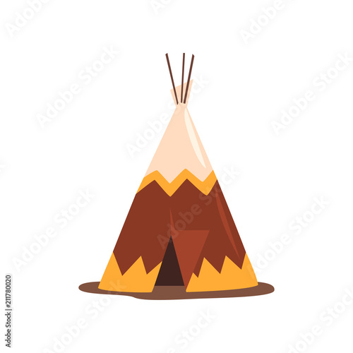 Valokuva Teepee or wigwam, dwelling of north nations of Canada, Siberia, North America ve