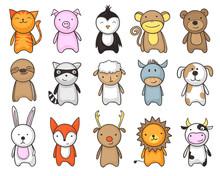 Toy Animals Cartoon Set