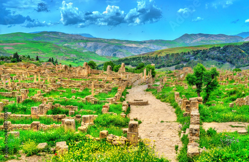 Deurstickers Algerije Berbero-Roman ruins at Djemila in Algeria