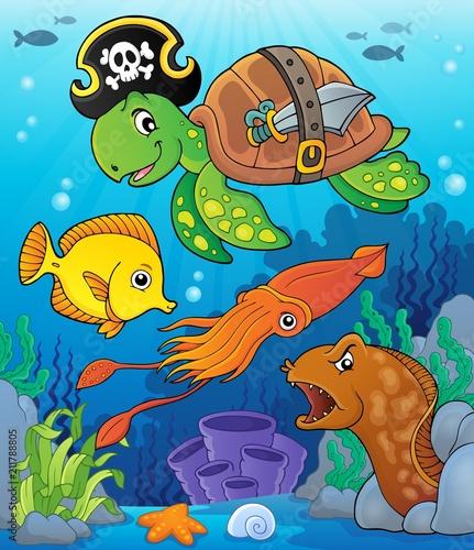 In de dag Voor kinderen Pirate turtle theme image 4