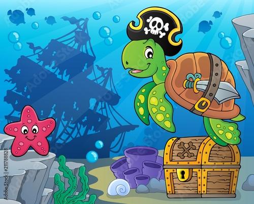 In de dag Voor kinderen Pirate turtle theme image 5