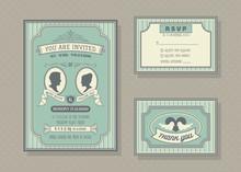 Wedding Invitation Card Vector...
