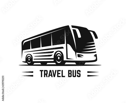 Tablou Canvas Vector black sign bus