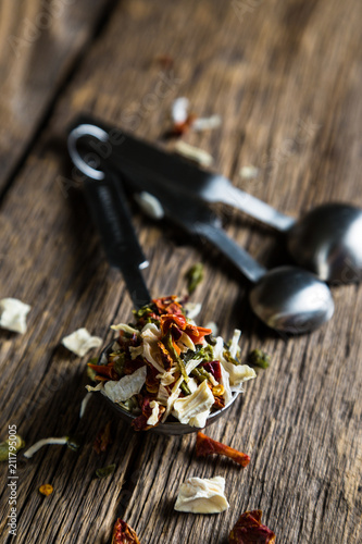 Spoed Foto op Canvas Kruiderij Spice. A mixture of dried herbs