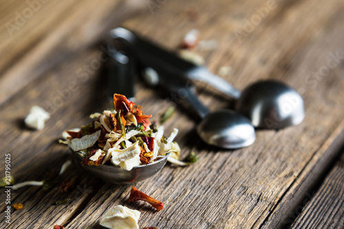 Foto op Canvas Kruiderij Spice. A mixture of dried herbs