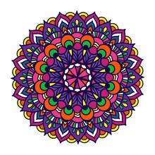 Vector Color Ornament Mandala....