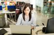 Female software developer working at her desk