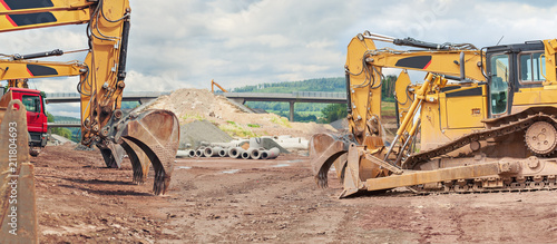 Fototapeta the motorway construction obraz