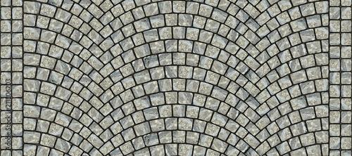 Road curved cobblestone texture 033 Wallpaper Mural