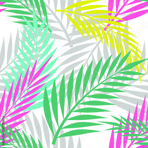 kolorowe-liscie-palmowe-powielony-wzor-na-bialym-tle-prosty-wektor