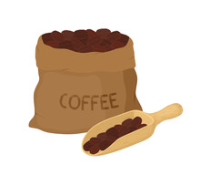 Vector Canvas Coffee Bag With ...