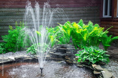 Fotografiet Small fountain near hostel