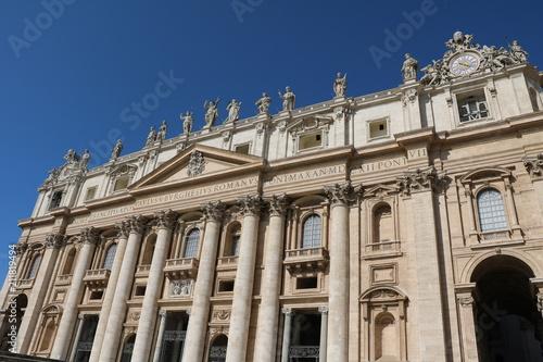 Zdjęcie XXL Szczegóły Bazyliki Świętego Piotra w Watykanie, Rzym Włochy