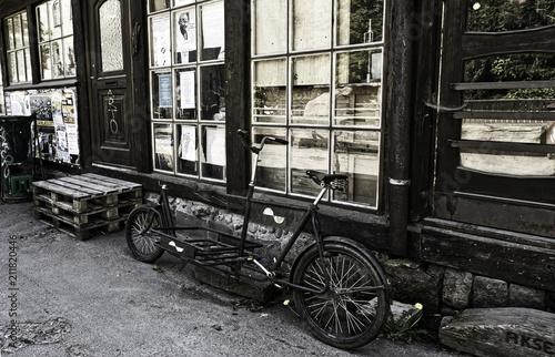 Deurstickers Fiets Vintage