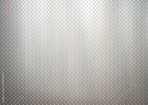 Carta da parati White silver metal industrial plate wall diamond steel patterned background