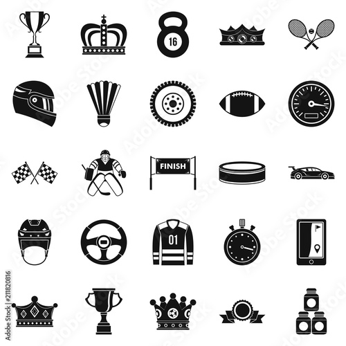 Fototapeta Purse icons set. Cartoon set of 25 purse vector icons for web isolated on white background obraz na płótnie