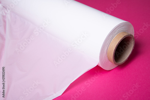 Valokuva Roll of Polythene pallet film, wrap