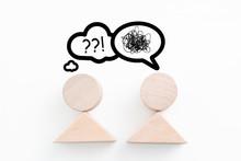 Figuren Mit Sprechblasen, Die Verständnisprobleme Andeuten