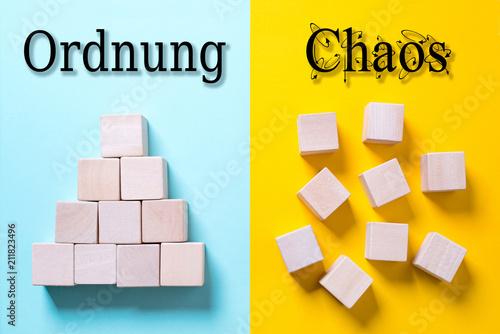 Ordnung vs. Chaos Canvas Print