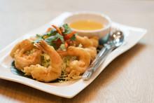 Fried Or Tempura Shrimps, Thai...