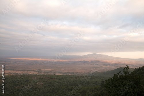 Spoed Foto op Canvas Grijze traf. The great rift valley and mount Longonot from a view point somewhere near Place Kijabe