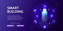 3D Smart Building Infographics Isometric Concept Automation Control System