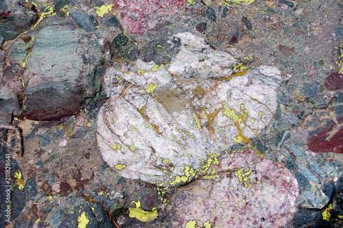 Crestone conglomerate rock texture in the Sangre De Cristo Mnts of Southern Colorado Canvas-taulu