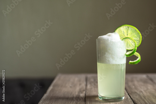 Stampa su Tela Egg Gin Fizz Cocktail