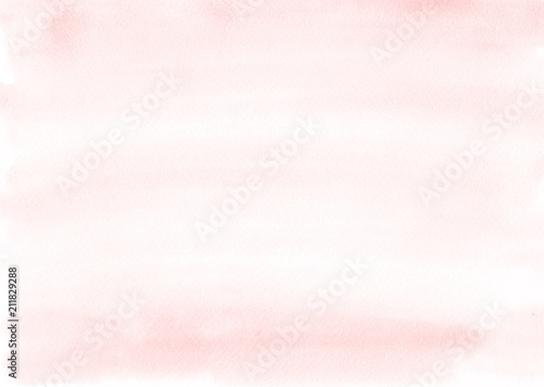 Fotografía  Soft pink watercolor background is almost uniform, with beautiful stripes from the brush
