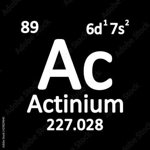 Periodic table element actinium icon  - Buy this stock