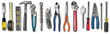 canvas print picture - Various used tools on white background