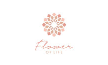 Flower Of Life Pattern Logo Design Inspiration