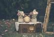 canvas print picture - Vintage wedding decoration still life