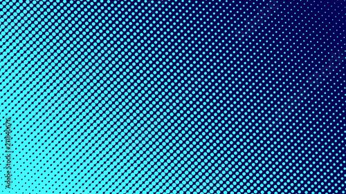 Obraz na plátně  Halftone gradient pattern vector illustration